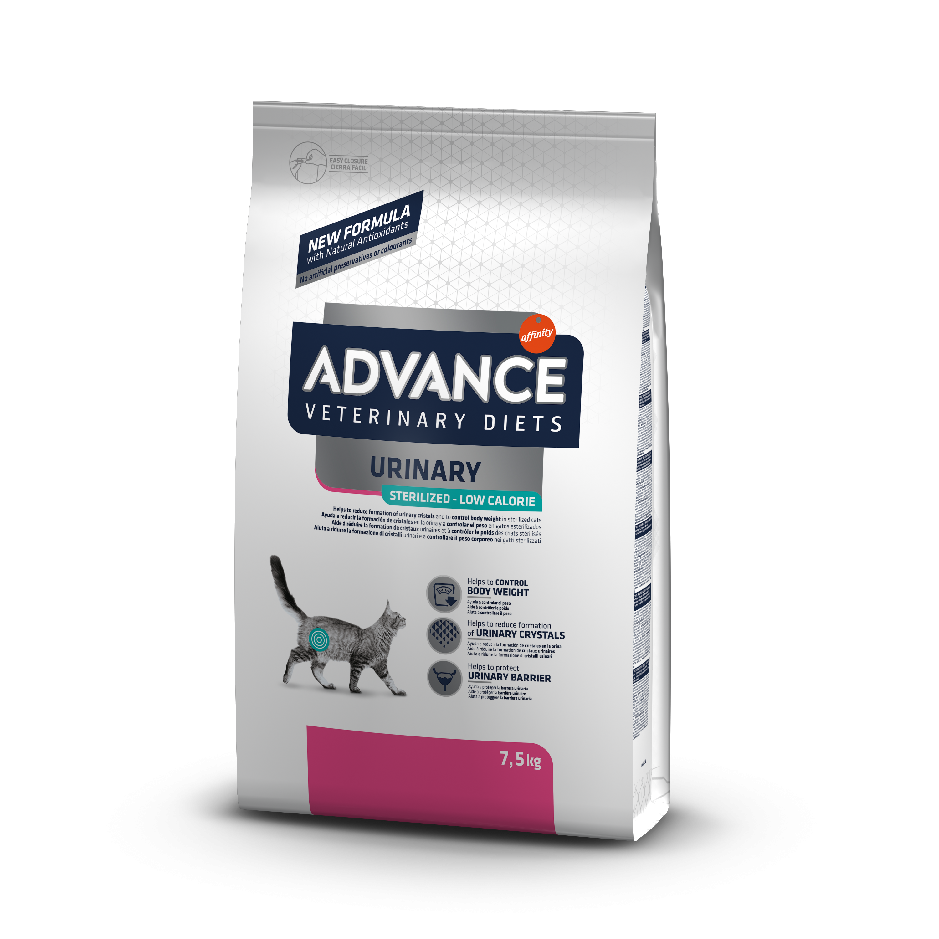 ADVANCE GATTO URINARY STERIZED LOW CALORIE 7,5KG