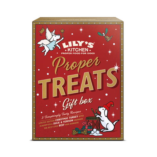 Lily's Kitchen cane Proper Snack gift box Natale 150gr