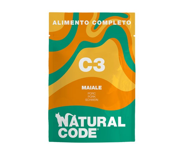 NATURAL CODE C3 GATTO ADULT MAIALE 70GR
