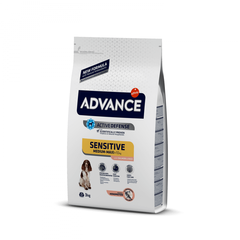 ADVANCE DOG SENSITIVE SALMONE E RISO 3KG