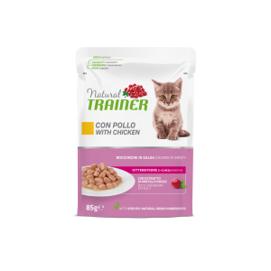 NATURAL TRAINER GATTO KITTEN & YOUNG POLLO 85GR