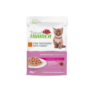 NATURAL TRAINER KITTEN & YOUNG TACCHINO BUSTA 85GR