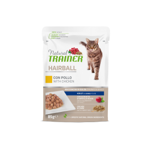 NATURAL TRAINER GATTO HAIRBALL POLLO 85GR
