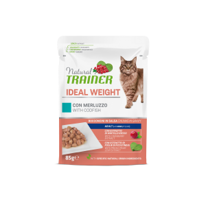 NATURAL TRAINER GATTO IDEAL WEIGHT MERLUZZO 85GR