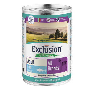 EXCLUSION MEDITERRANEO CANE PESCE 400GR