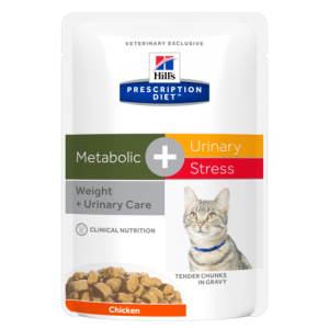 HILL'S GATTO METABOLIC + URINAY STRESS 12 BUSTE 85GR