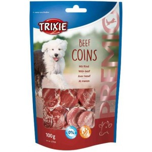 SNACK CANE BEEF COINS 100GR TRIXIE