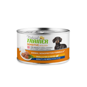 NATURAL TRAINER SENSITIVE CANE ADULT SMALL MAIALE 150G