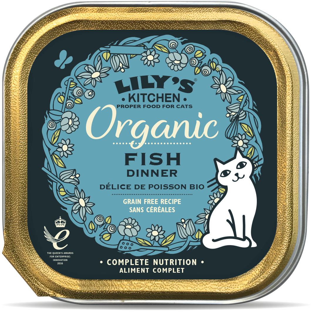 LILY'S KITCHEN CAT ORGANIC FISH 85GR