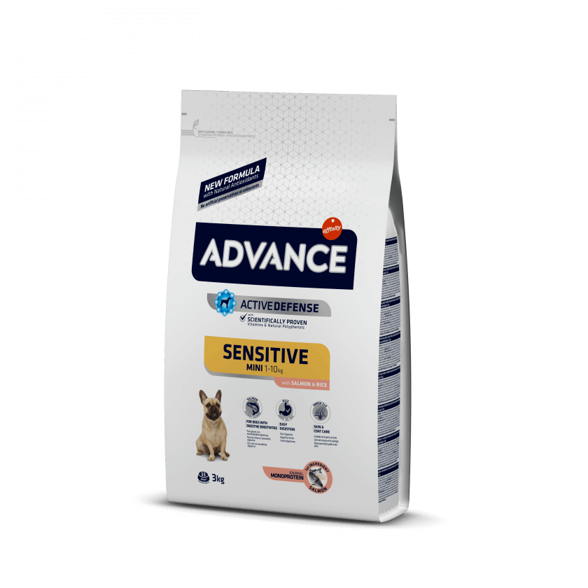 ADVANCE CANE MINI SENSITIVE SALMONE E RISO 800G
